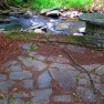 stone work and creek